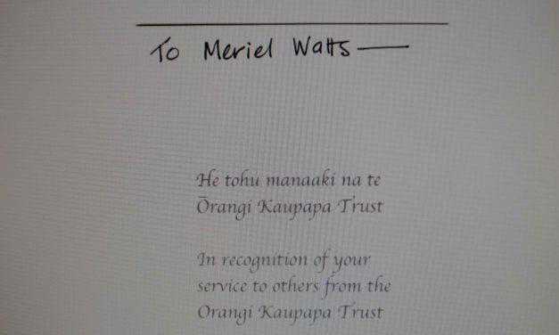Congratulations Dr Meriel Watts!